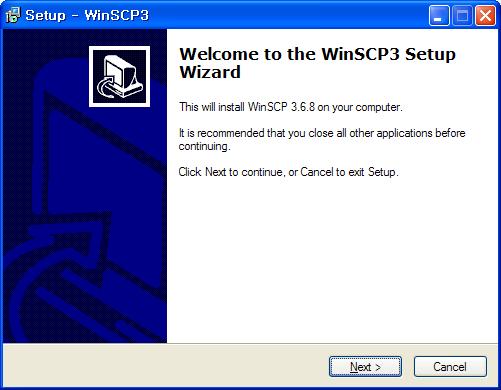 http://wiki.kldp.org/pds/WinSCPTutorial/install_1.png